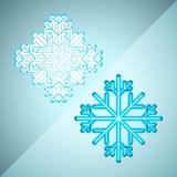Abstrakte Schneeflocken Stockbild