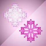 Abstrakte Schneeflocken Lizenzfreies Stockfoto