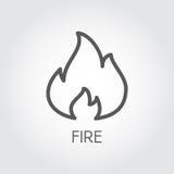 Abstrakte Schusslinie Ikone Flammen Sie Gaseinfachheits-Entwurfsbilddagramm auf grauem Hintergrund Vektorkonturnillustration Lizenzfreies Stockfoto