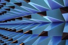 Abstrakte Schwammspitze in der Bleistiftform, blau Stockbild