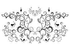Abstrakte schwarze Blumenverzierung Lizenzfreies Stockbild