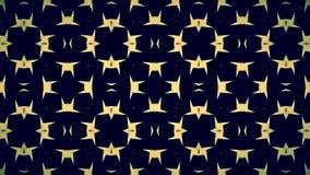 Abstrakte schwarze gelbe Mustertapete Lizenzfreies Stockbild