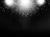 Abstrakte schwarze Glühenhintergrundgraphiken Lizenzfreie Stockfotos