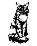 Abstrakte schwarze Katze Stockfoto