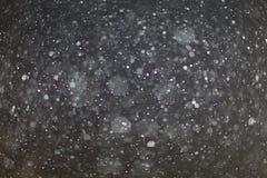 Abstrakte schwarze weiße Schneebeschaffenheit auf schwarzem Hintergrund Lizenzfreie Stockfotos