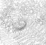 Abstrakte Schwarzweiss-Abbildung Grafische kosmische Zwischenlage stock abbildung