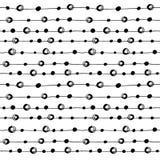 Abstrakte Schwarzweiss-Hand gezeichnetes nahtloses Muster Stockfotografie