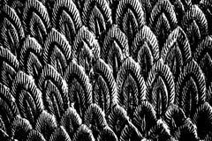 Abstrakte Schwarzweiss-Stangenform Lizenzfreies Stockfoto
