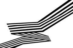 Abstrakte Schwarzweiss-Streifen verbogen geometrische Form des Bandes Lizenzfreie Stockfotografie