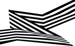 Abstrakte Schwarzweiss-Streifen verbogen geometrische Form des Bandes Lizenzfreies Stockfoto