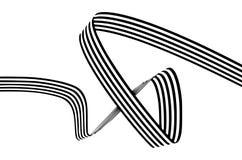 Abstrakte Schwarzweiss-Streifen verbogen glatt Band geometrica Stockbilder