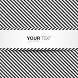 Abstrakte Schwarzweiss-Textbox Lizenzfreies Stockfoto