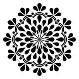 Abstrakte Schwarzweiss-Weinlese-schöne Dekor-Mandala vektor abbildung