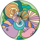 Abstrakte Seeillustration Stockbild