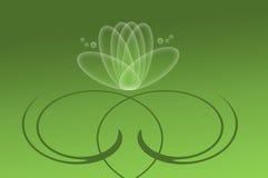 Abstrakte Seerose auf einem grünen Hintergrund Lizenzfreies Stockbild