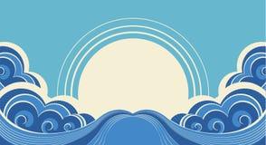 Abstrakte Seewellen. vektor abbildung