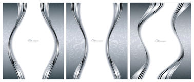 Abstrakte silberne Hintergrundschablonen Stockfotos