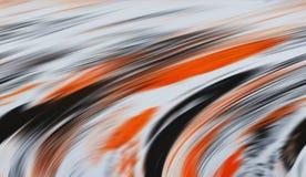 Abstrakte silberne orange graue Farben und Linien Hintergrund Zeilen in der Bewegung Stockfotografie