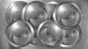 Abstrakte silvercoloured Kugel für exempel Plakat im indstri vektor abbildung