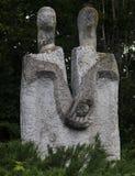 Abstrakte Skulptur von Leuten stockbild
