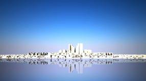 Abstrakte Skyline mit moderner Stadt Lizenzfreies Stockbild