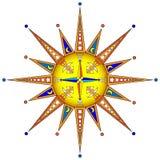 Abstrakte Sonne Lizenzfreie Stockbilder