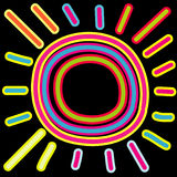 Abstrakte Sonne vektor abbildung