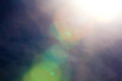 Abstrakte Sonne und Himmel Stockbild