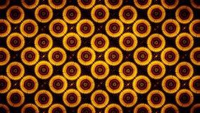 Abstrakte Sonnenblumenmustertapete Lizenzfreie Stockfotos