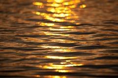 Abstrakte Sonnenuntergangreflexion Stockfoto