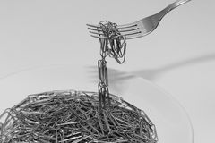 Abstrakte Spaghettiplatte Lizenzfreies Stockfoto