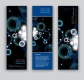 Abstrakte Sparkly Fahnen. Hintergründe des Vektor-Eps10. Stockbild