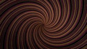 Abstrakte Spirale, die Linien, computererzeugten Hintergrund, Hintergrund der Wiedergabe 3D dreht und verdreht Drehen leuchtend lizenzfreie abbildung