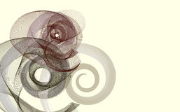 Abstrakte Spiralen stock abbildung