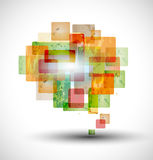 Abstrakte Sprache-Luftblase Lizenzfreie Stockbilder