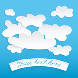 Abstrakte Spracheblasen in Form der Wolken benutzt Stockbilder