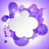 Abstrakte Spracheblasenwolke mit Flecken Stock Abbildung