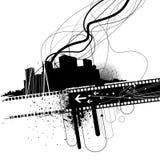 Abstrakte städtische Auslegung stock abbildung