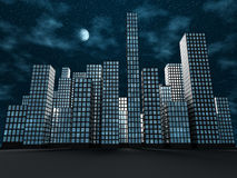 Abstrakte Stadt lizenzfreie abbildung