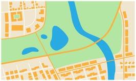 Abstrakte Stadtkarte Stockfoto
