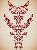 Abstrakte Stammes- Kunst Stockbild
