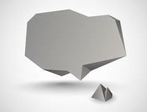 Abstrakte Steinsprache-Blase Lizenzfreies Stockfoto