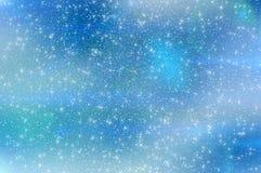 Abstrakte Sternhimmel-Schneeflockenwolken Lizenzfreie Stockbilder