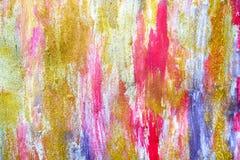 Abstrakte Ströme von Farben auf der Wand lizenzfreies stockfoto