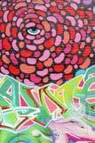 Abstrakte Straßenkunst mit einem blauen Auge, Adelaide, Süd-Australien Lizenzfreie Stockbilder