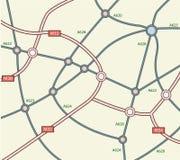 Abstrakte Straßenkarte Lizenzfreies Stockbild