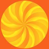 Abstrakte Strahlen der gebogenen Orangen-und Zitrone-Segmente Stockfoto