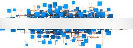 Abstrakte Struktur der Masche und des Netzes lokalisiert über weißem Hintergrund Stockfotos