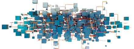 Abstrakte Struktur der Masche und des Netzes lokalisiert über weißem Hintergrund Stockbild