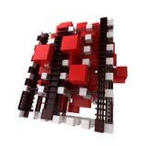 Abstrakte Struktur in Rotem und in weißem Stockbild